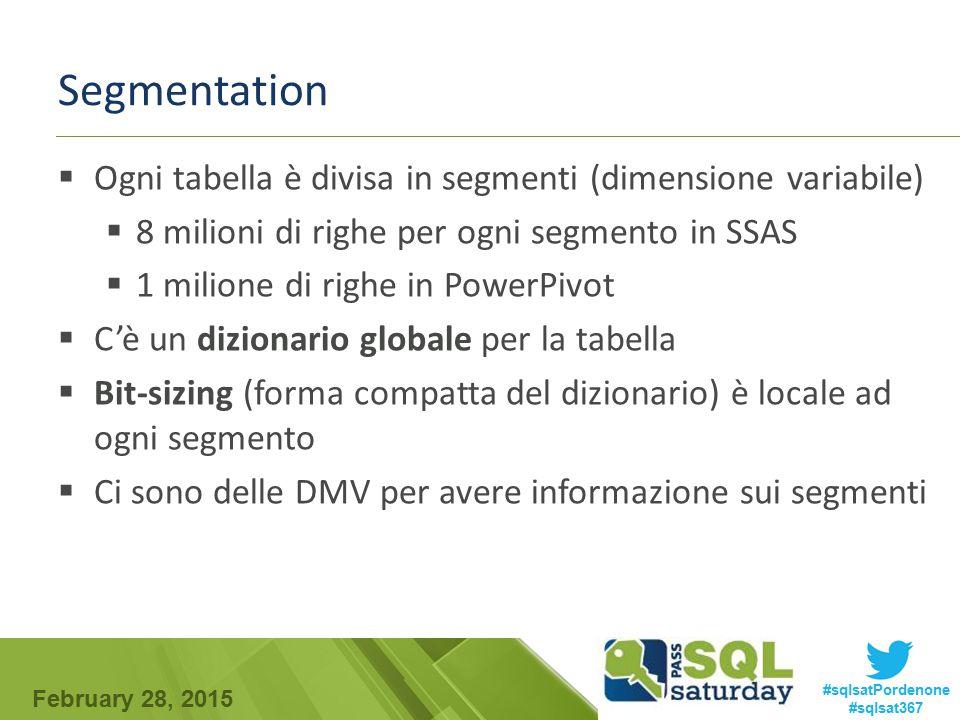 Segmentation Ogni tabella è divisa in segmenti (dimensione variabile)