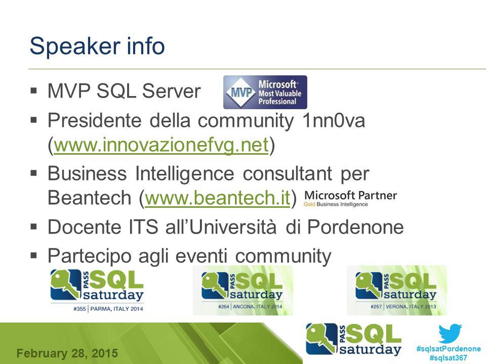 Speaker info MVP SQL Server