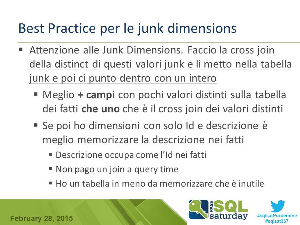 Best Practice per le junk dimensions