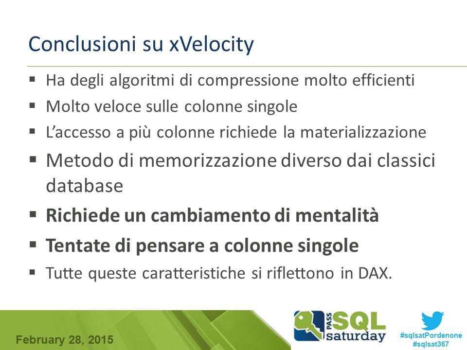 Conclusioni su xVelocity