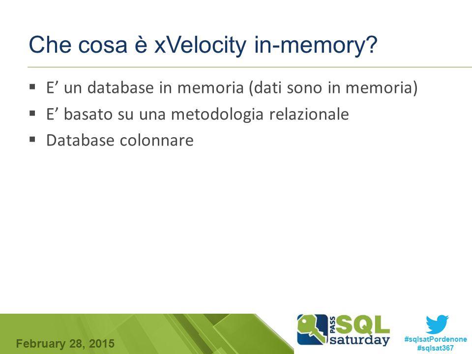 Che cosa è xVelocity in-memory