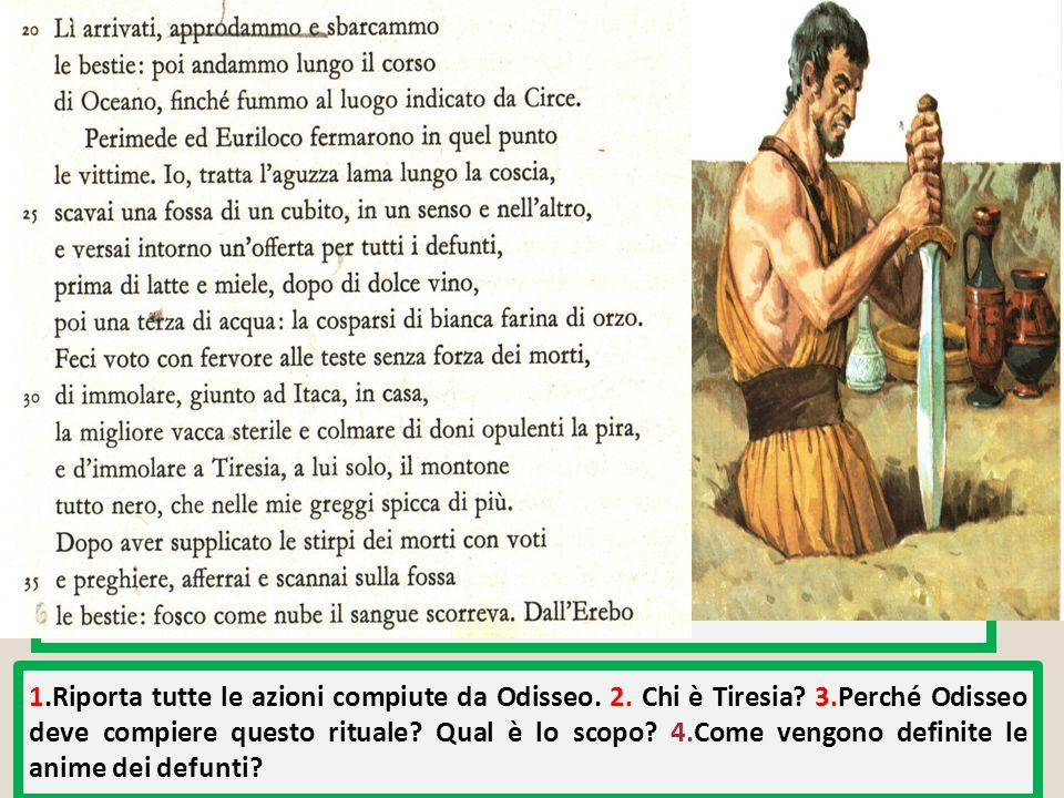Odisseo compie un preciso rituale legato alla negromanzia (gr