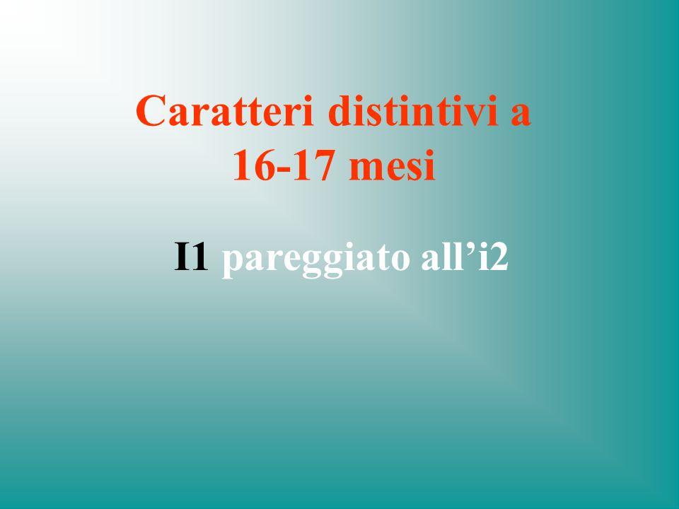 Caratteri distintivi a 16-17 mesi