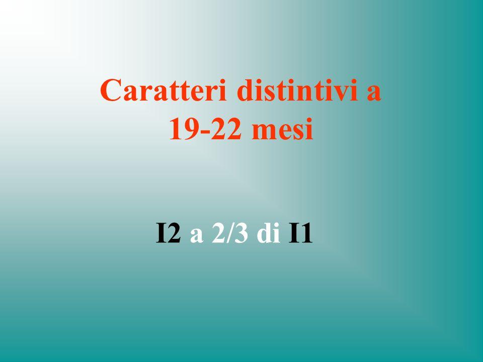 Caratteri distintivi a 19-22 mesi
