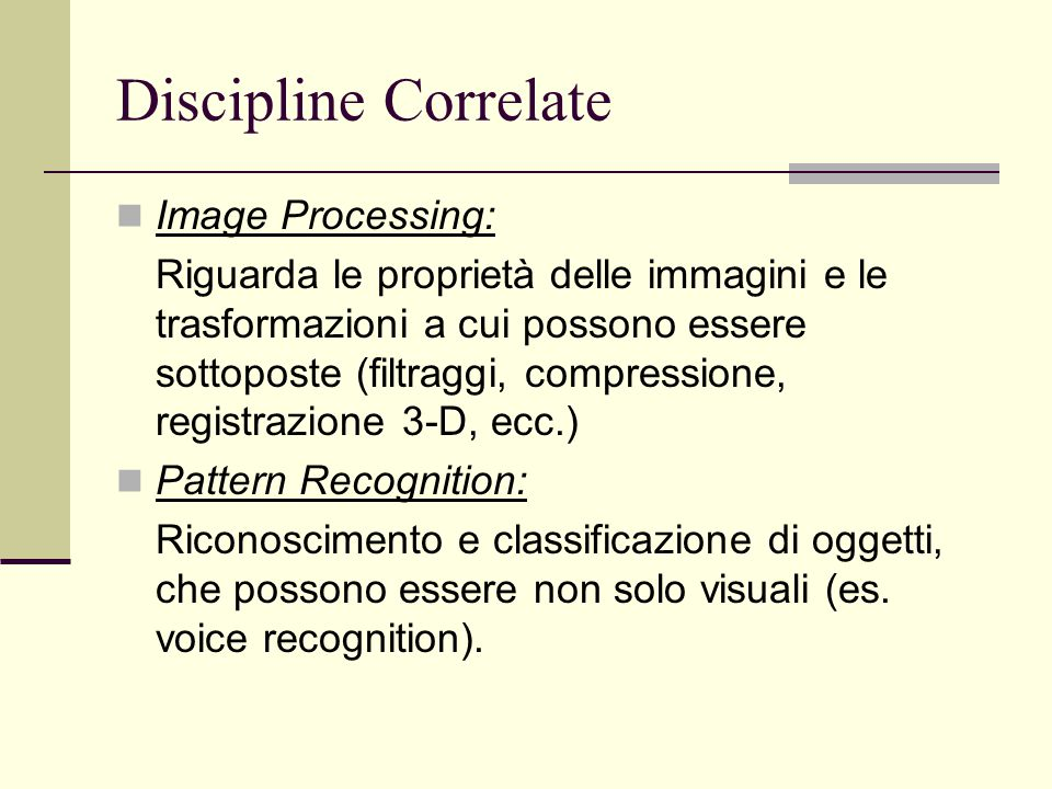 Discipline Correlate Image Processing: