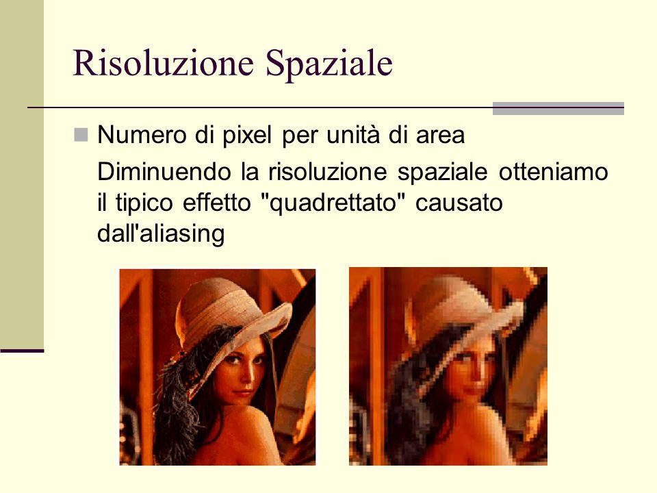 Risoluzione Spaziale Numero di pixel per unità di area