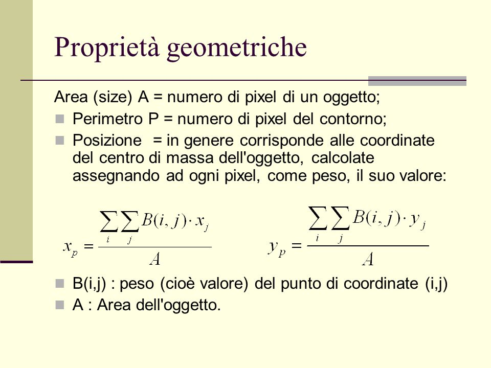 Proprietà geometriche