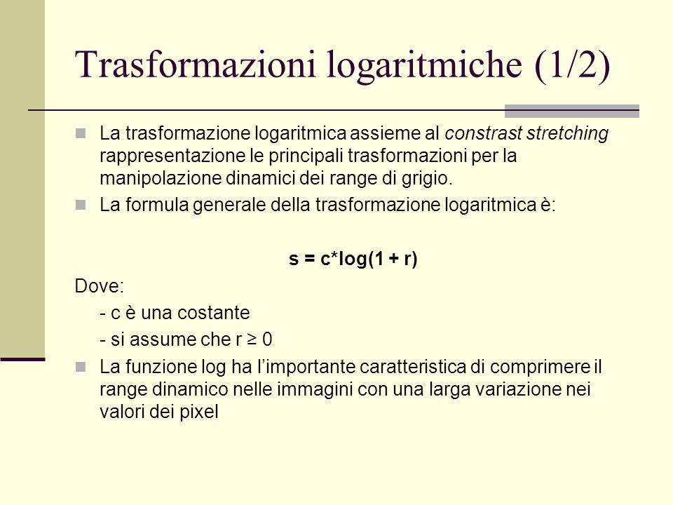 Trasformazioni logaritmiche (1/2)