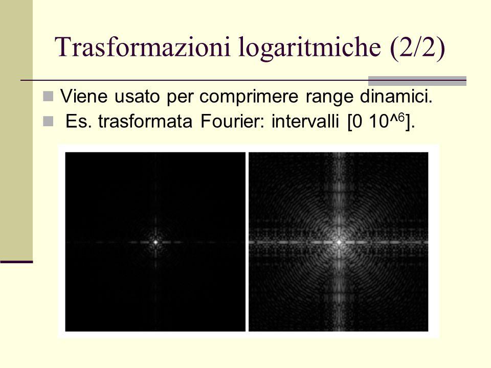 Trasformazioni logaritmiche (2/2)