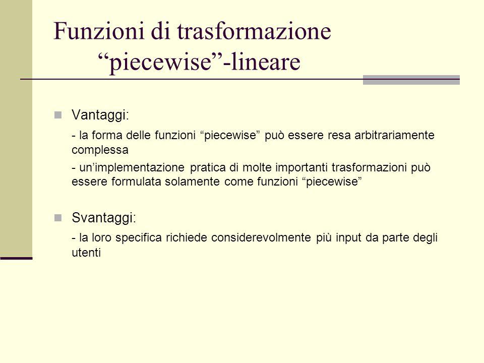 Funzioni di trasformazione piecewise -lineare