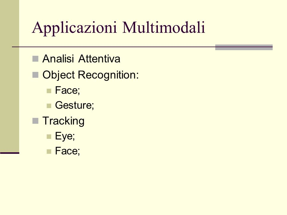 Applicazioni Multimodali