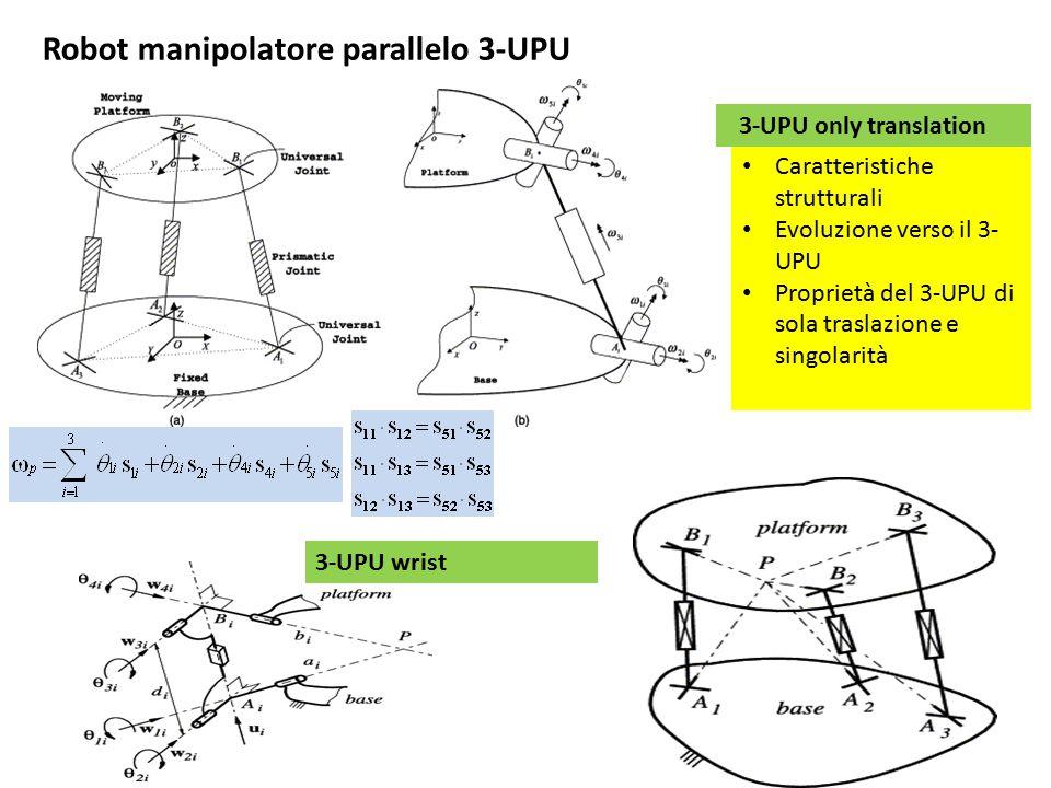 Robot manipolatore parallelo 3-UPU