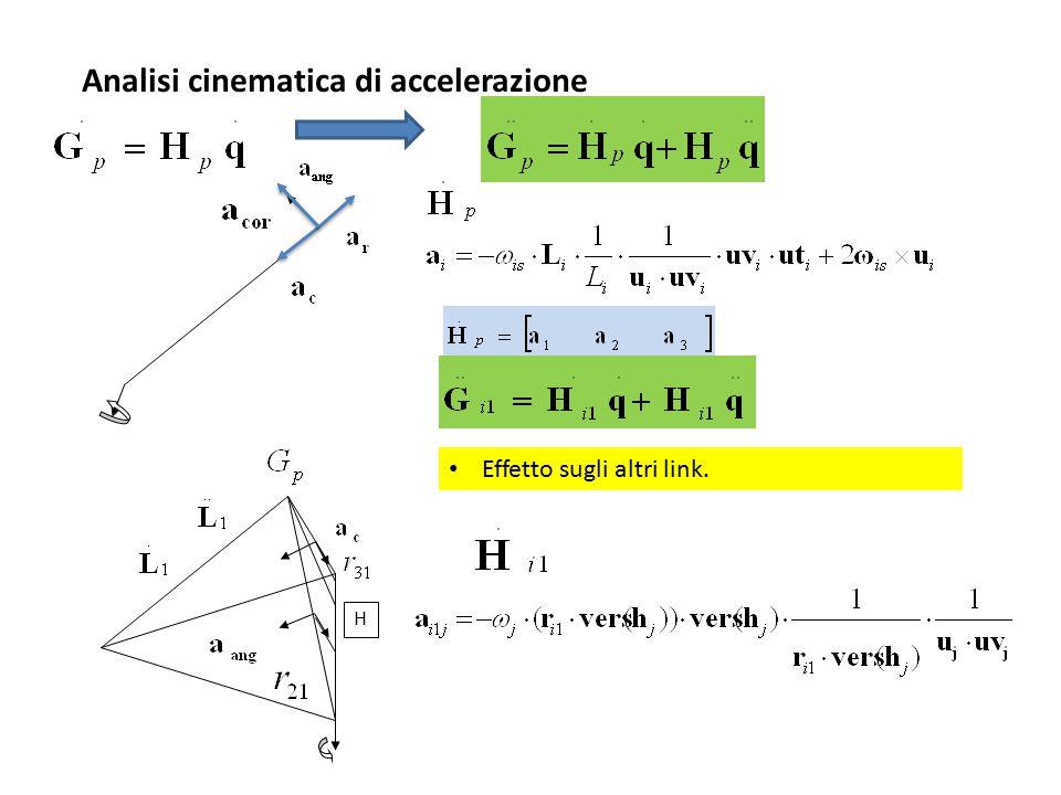 Analisi cinematica di accelerazione