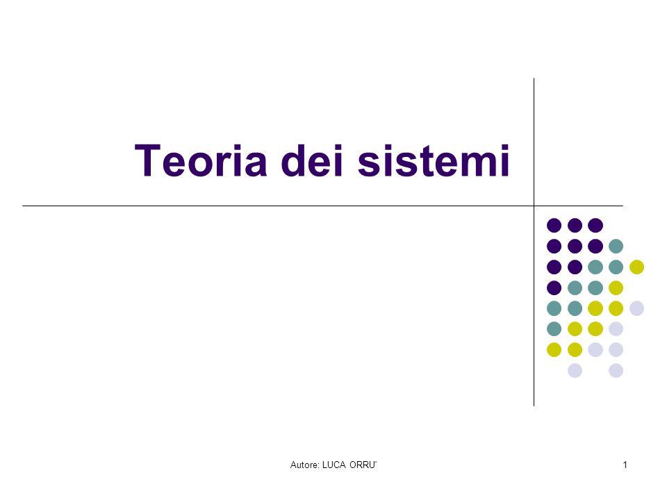 Teoria dei sistemi Autore: LUCA ORRU
