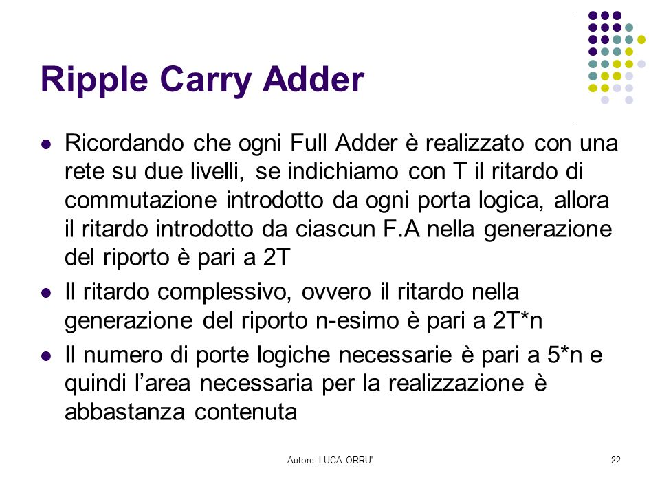 Ripple Carry Adder