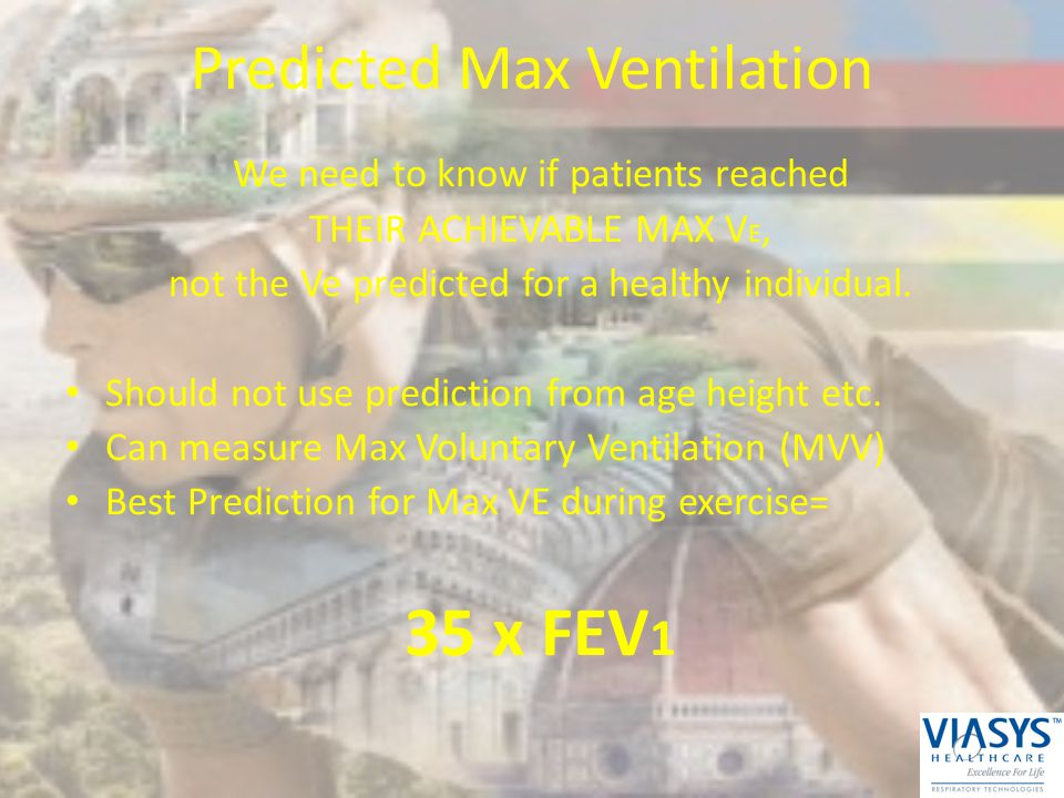 Predicted Max Ventilation