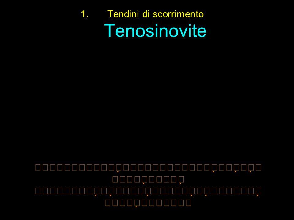 Tendini di scorrimento Tenosinovite