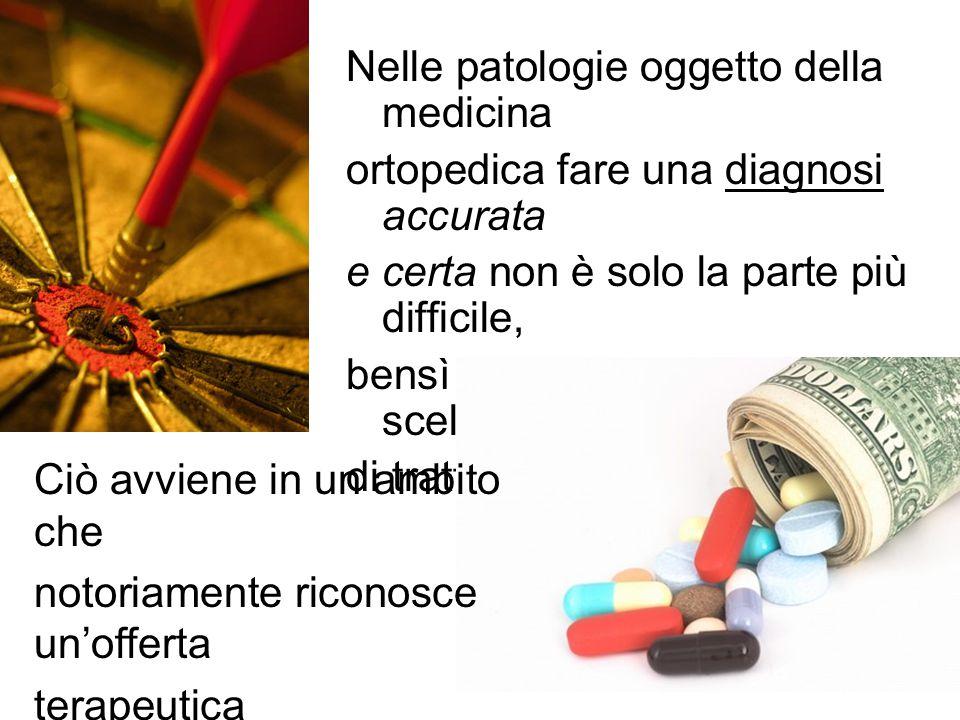 Nelle patologie oggetto della medicina