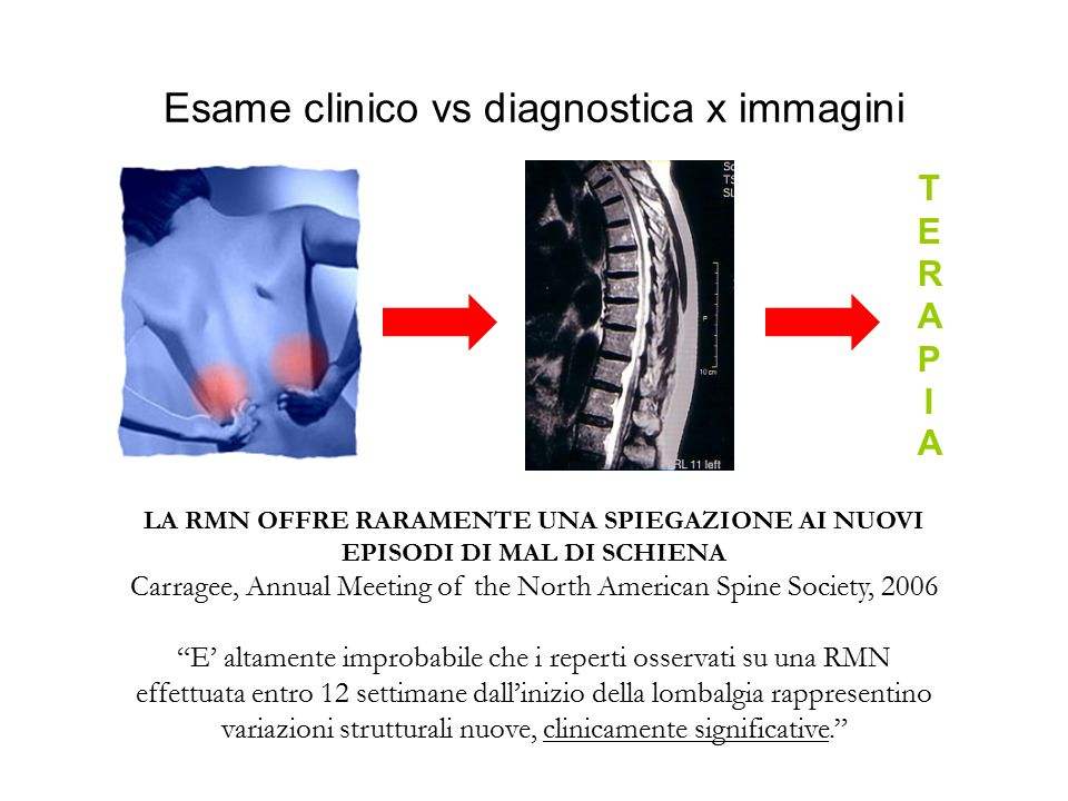 Esame clinico vs diagnostica x immagini