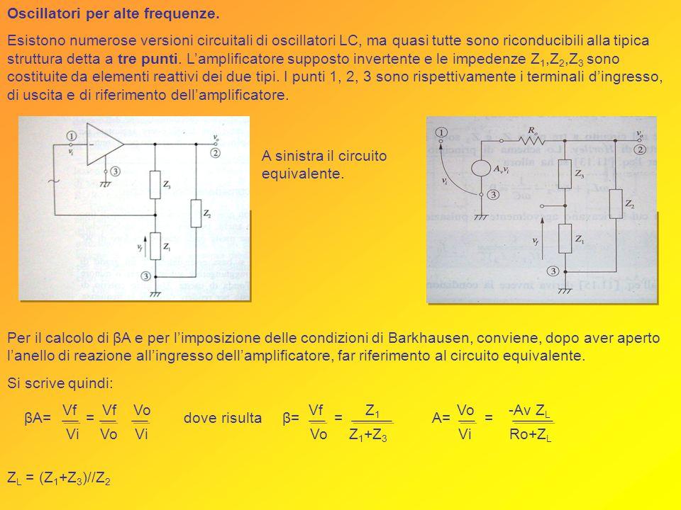 Oscillatori per alte frequenze.