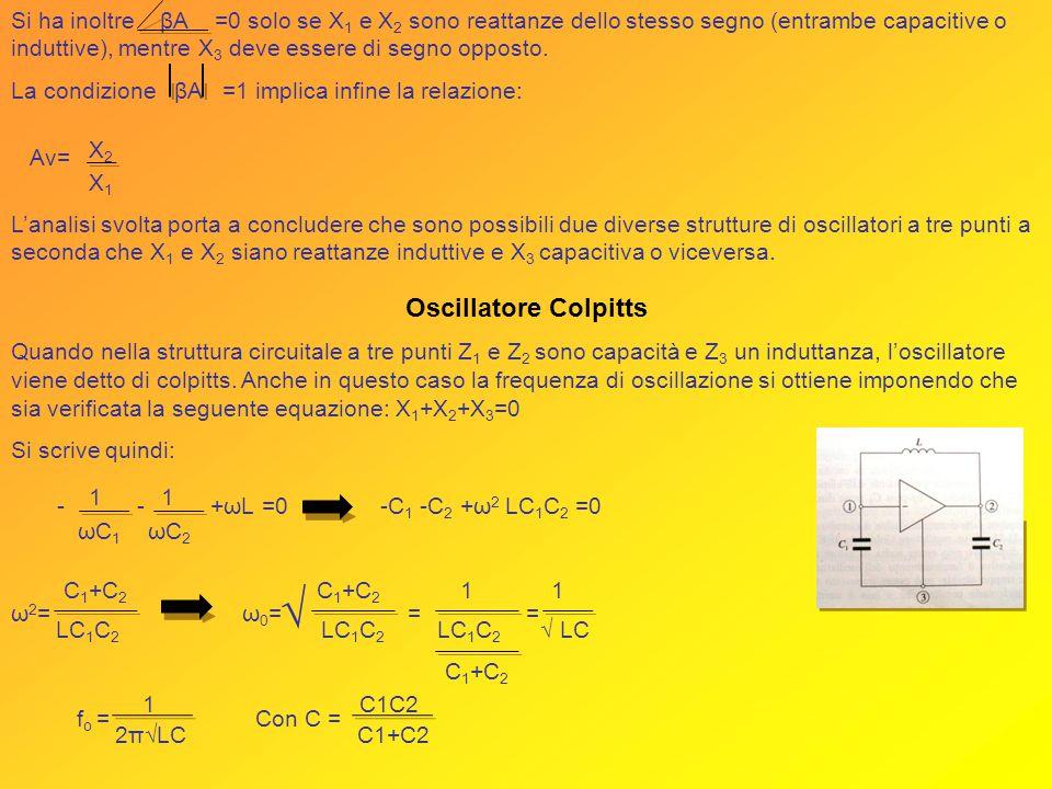 √ Oscillatore Colpitts