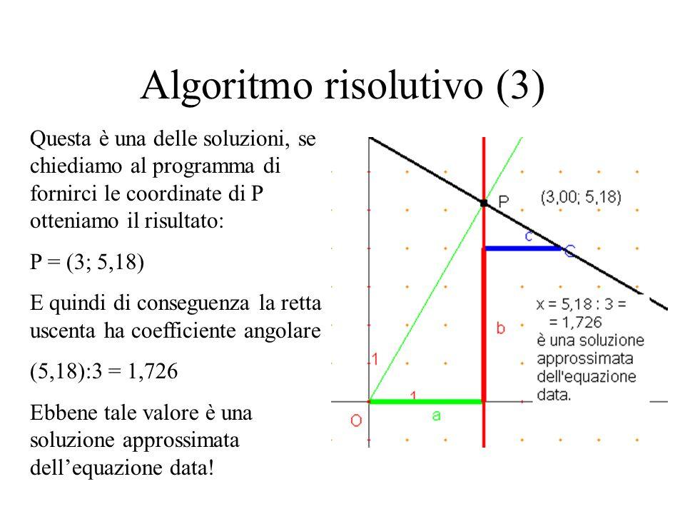Algoritmo risolutivo (3)