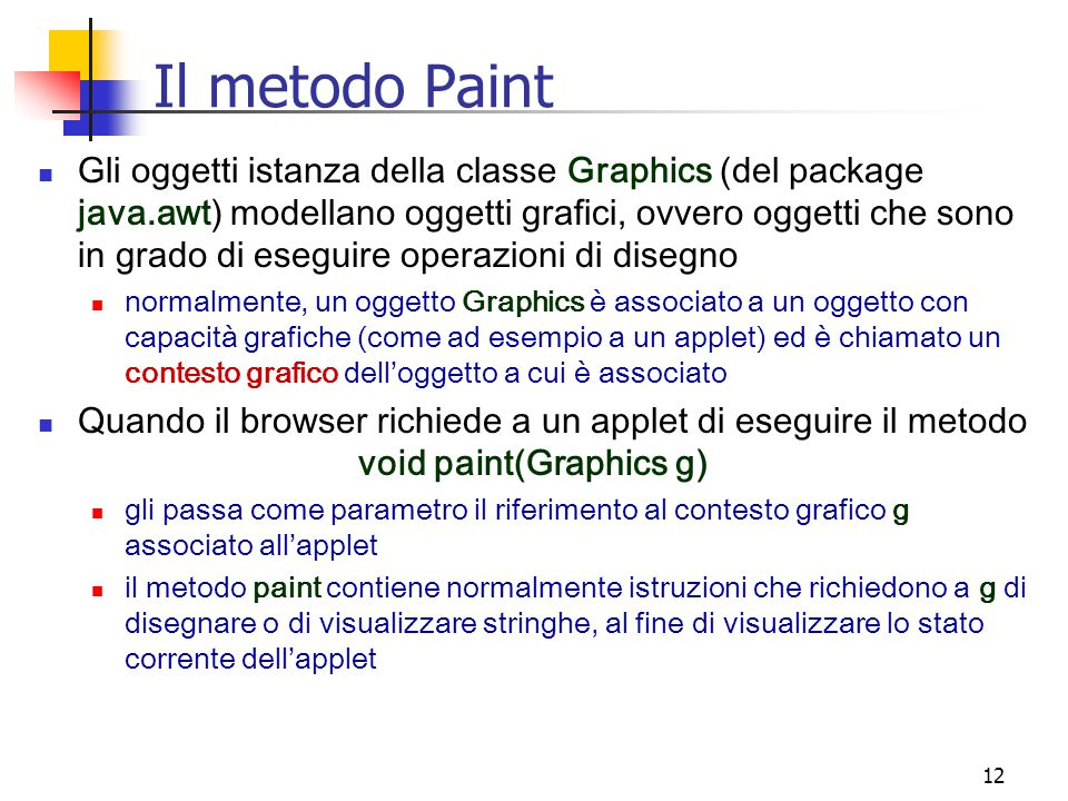 Il metodo Paint