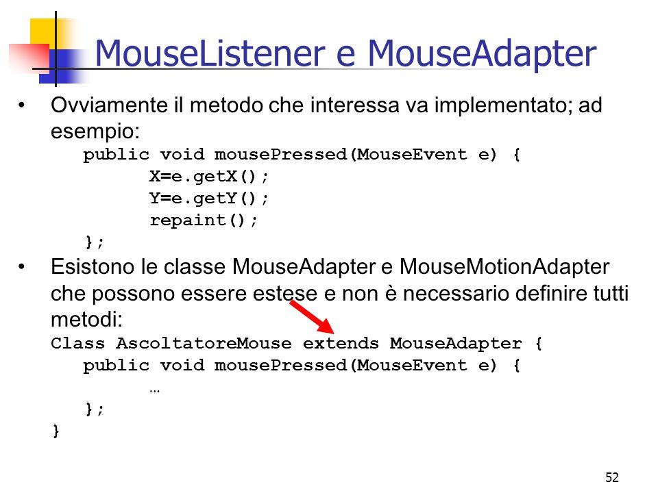 MouseListener e MouseAdapter