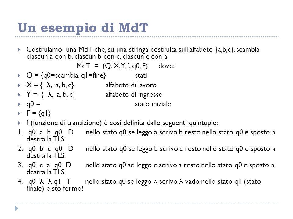 Un esempio di MdT