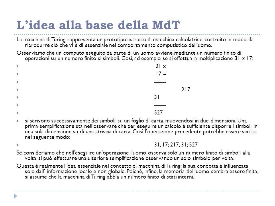 L'idea alla base della MdT