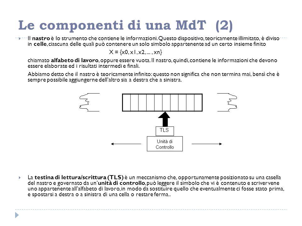 Le componenti di una MdT (2)
