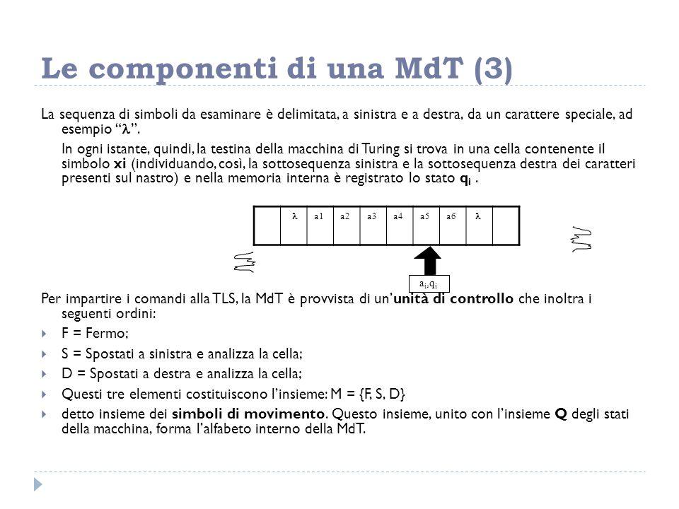 Le componenti di una MdT (3)