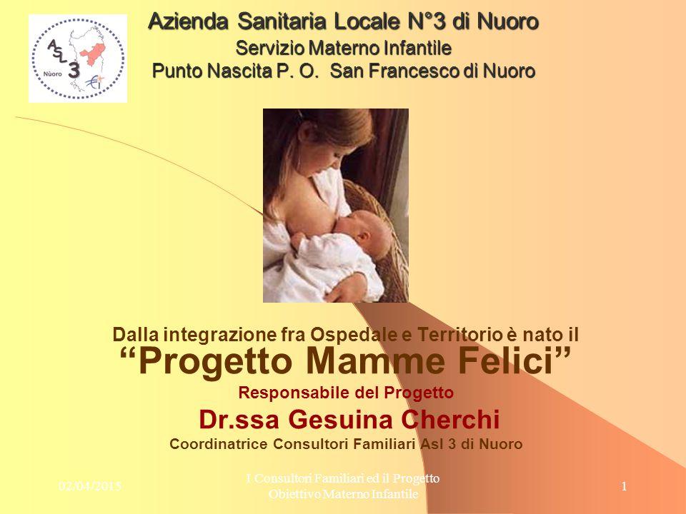 09/04/2017 Azienda Sanitaria Locale N°3 di Nuoro Servizio Materno Infantile Punto Nascita P. O. San Francesco di Nuoro.