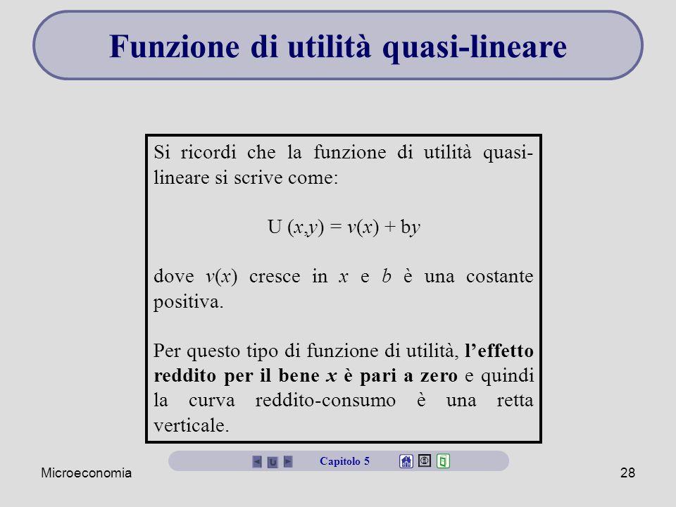 Funzione di utilità quasi-lineare