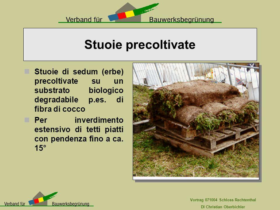 Stuoie precoltivate Stuoie di sedum (erbe) precoltivate su un substrato biologico degradabile p.es. di fibra di cocco.