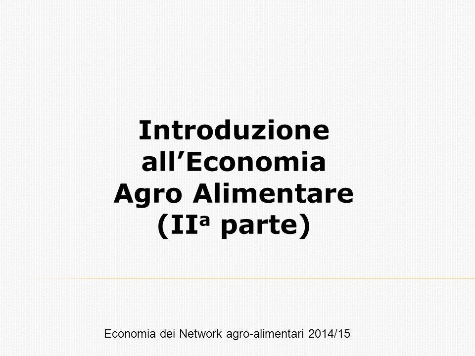 Introduzione all'Economia Agro Alimentare (IIa parte)