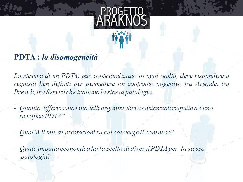PDTA : la disomogeneità