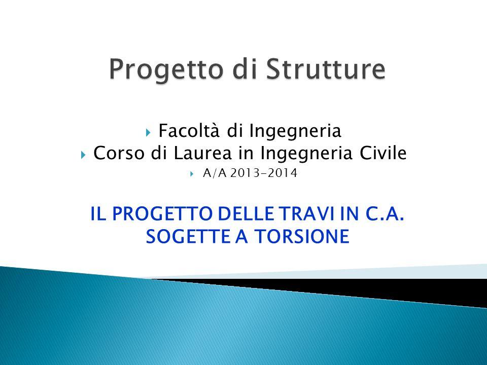 IL PROGETTO DELLE TRAVI IN C.A. SOGETTE A TORSIONE
