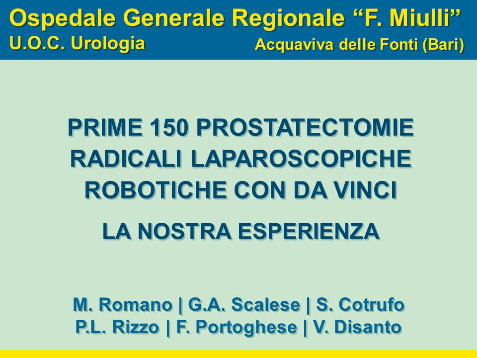 Ospedale Generale Regionale F. Miulli