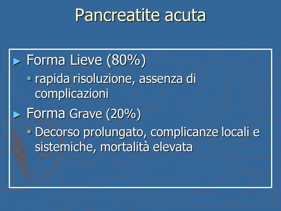 Pancreatite acuta Forma Lieve (80%)