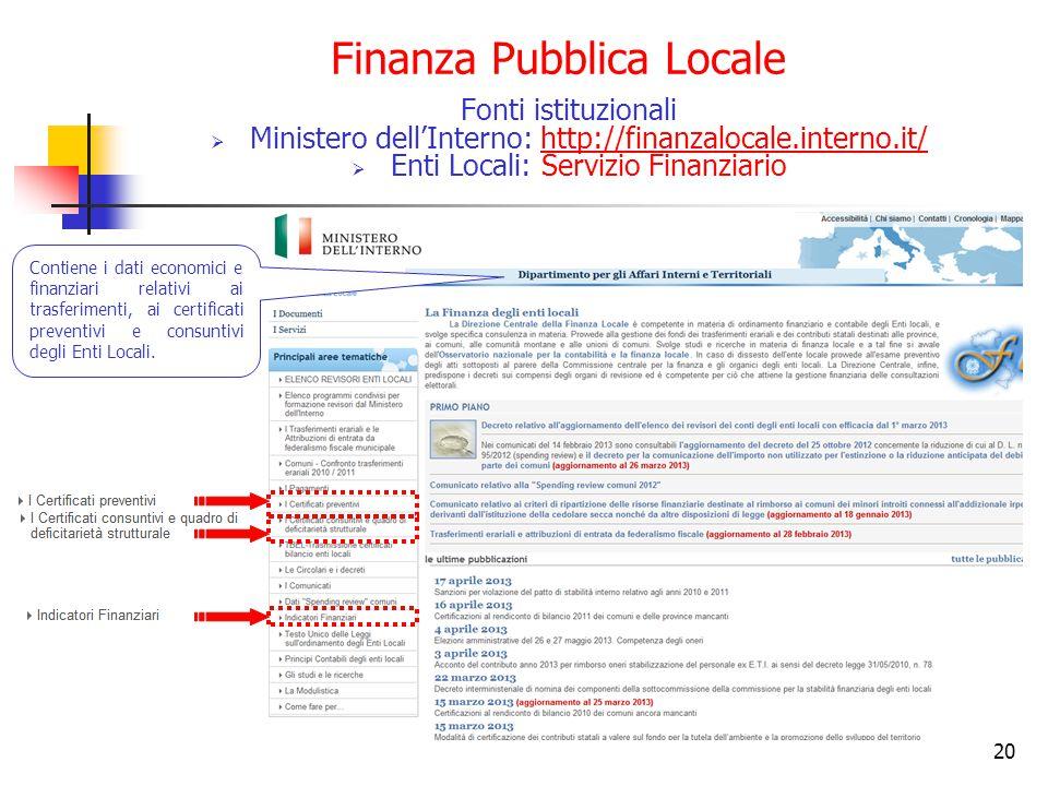 Finanza Pubblica Locale