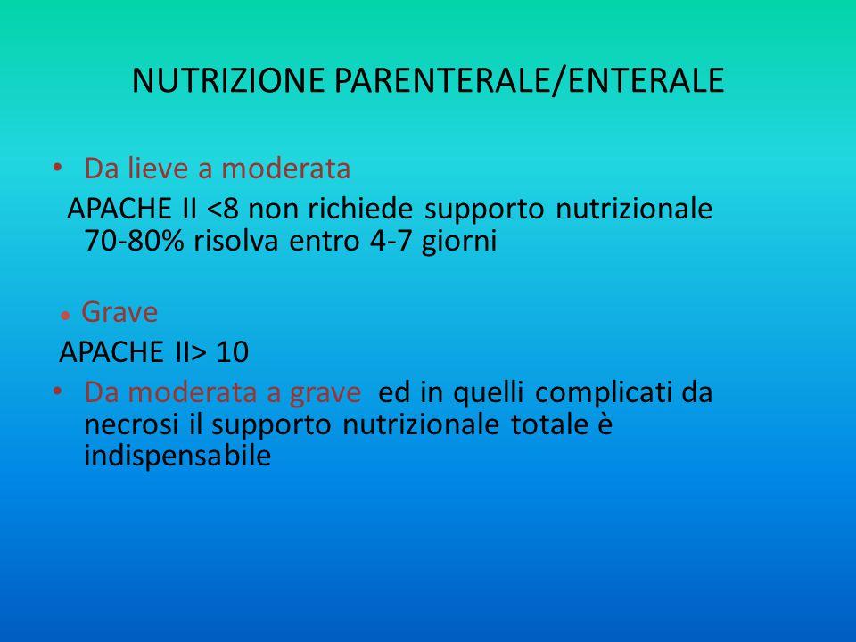 NUTRIZIONE PARENTERALE/ENTERALE
