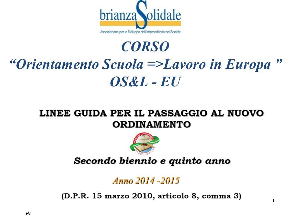 Orientamento Scuola =>Lavoro in Europa