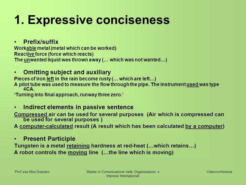 1. Expressive conciseness