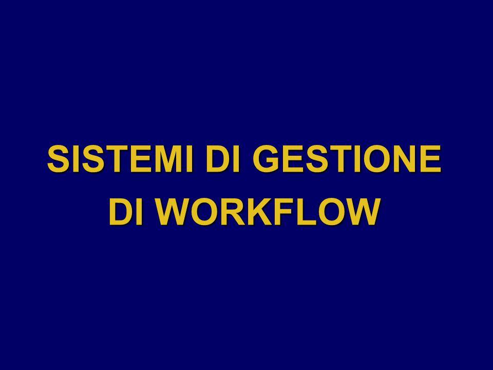 SISTEMI DI GESTIONE DI WORKFLOW
