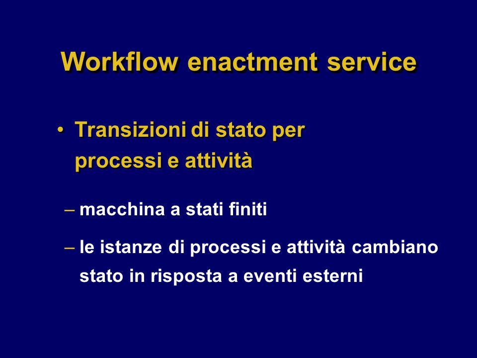 Workflow enactment service
