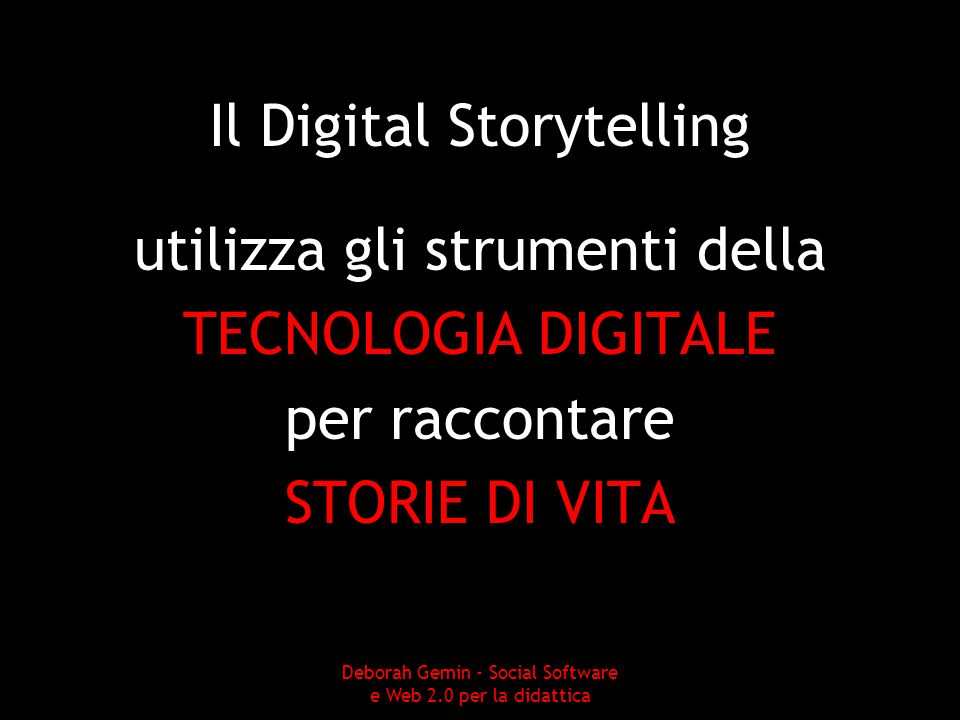 Il Digital Storytelling