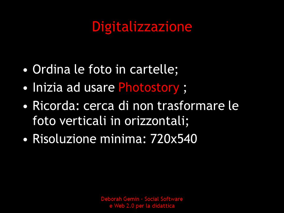 Deborah Gemin - Social Software e Web 2.0 per la didattica