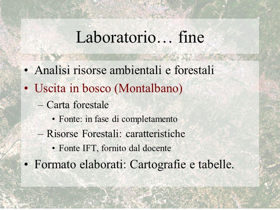 Laboratorio… fine Analisi risorse ambientali e forestali