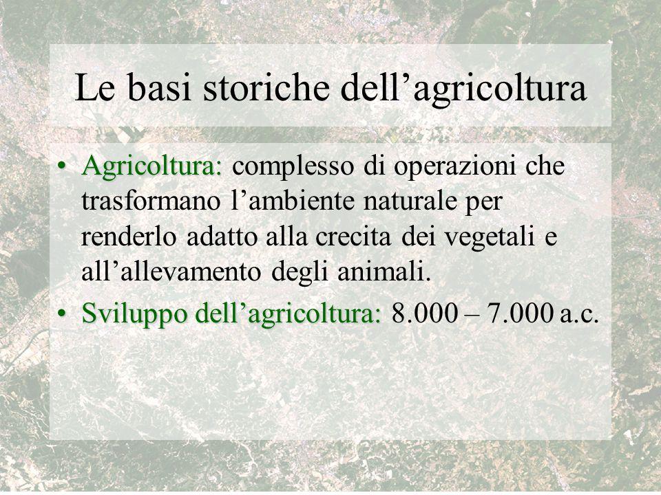 Le basi storiche dell'agricoltura